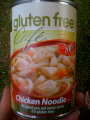 Canned & Fresh Gluten Free Chicken Noodle Soup on the Road